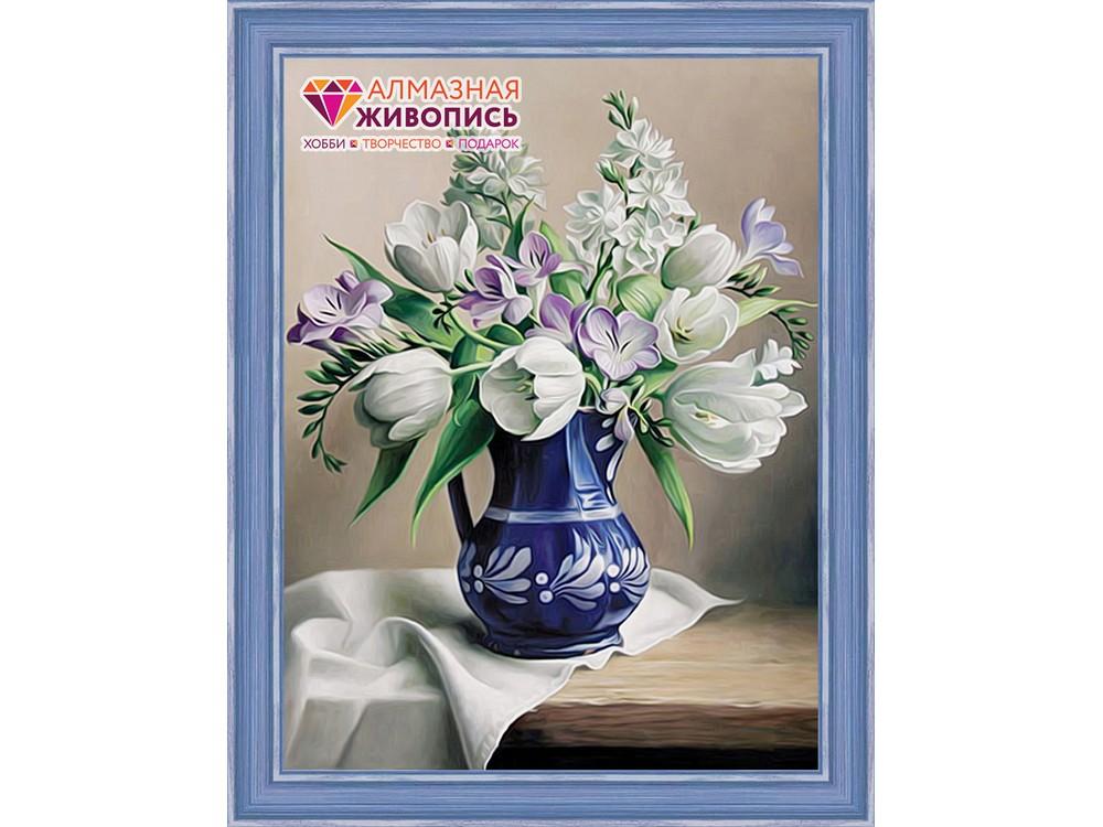 Алмазная вышивка «Белые тюльпаны»Алмазная вышивка<br><br>
