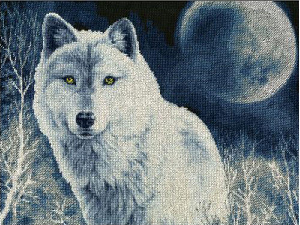 Набор для вышивания «Белый волк»Вышивка крестом Золотое Руно<br><br><br>Артикул: ДЖ-029<br>Основа: канва Aida 14<br>Размер: 31,3x40,8 см<br>Техника вышивки: счетный крест<br>Тип схемы вышивки: Черно-белая схема<br>Цвет канвы: Черная<br>Количество цветов: 16<br>Заполнение: Полное<br>Рисунок на канве: не нанесён<br>Техника: Вышивка крестом<br>Нитки: мулине Madeira