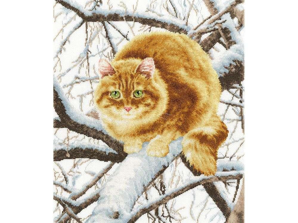 Набор для вышивания «Рыжий кот»Вышивка крестом Золотое Руно<br><br><br>Артикул: К-010<br>Основа: канва Aida 16<br>Размер: 38x32,4 см<br>Техника вышивки: счетный крест<br>Тип схемы вышивки: Черно-белая схема<br>Цвет канвы: Белый<br>Количество цветов: 24<br>Заполнение: Частичное<br>Рисунок на канве: не нанесён<br>Техника: Вышивка крестом<br>Нитки: мулине Madeira