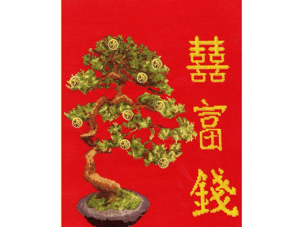 Набор для вышивания «Денежное дерево»Вышивка крестом Золотое Руно<br><br><br>Артикул: МГ-009<br>Основа: канва Aida 14<br>Размер: 26,7x24,5 см<br>Техника вышивки: счетный крест<br>Тип схемы вышивки: Черно-белая схема<br>Цвет канвы: Красный<br>Количество цветов: 18<br>Заполнение: Частичное<br>Рисунок на канве: не нанесён<br>Техника: Вышивка крестом<br>Нитки: мулине Madeira