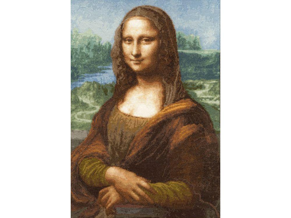 Набор для вышивания «Мона Лиза» Леонардо да ВинчиВышивка крестом Золотое Руно<br><br><br>Артикул: МК-023<br>Основа: канва Aida 16<br>Размер: 42,4x29,2 см<br>Техника вышивки: счетный крест<br>Тип схемы вышивки: Черно-белая схема<br>Цвет канвы: Кремовый<br>Количество цветов: 45<br>Заполнение: Полное<br>Рисунок на канве: не нанесён<br>Техника: Вышивка крестом<br>Нитки: мулине Madeira