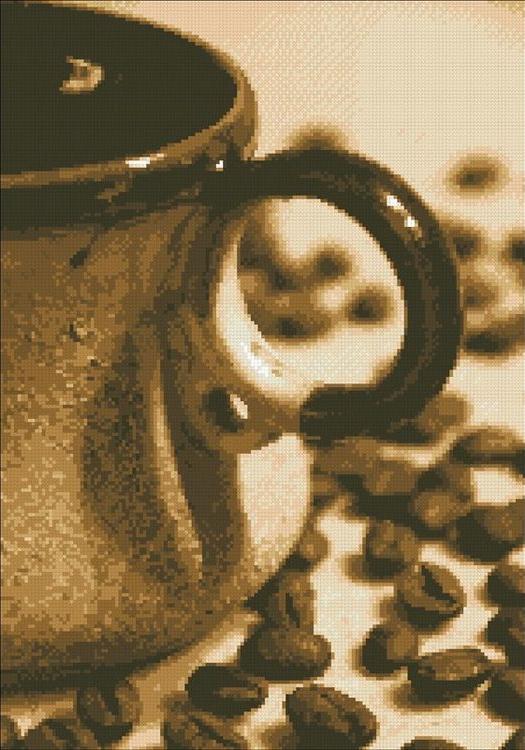 Алмазная вышивка «Чашечка кофе»Алмазная вышивка Паутинка<br><br><br>Артикул: М-237<br>Основа: Холст без подрамника<br>Сложность: сложные<br>Размер: 35x50 см<br>Выкладка: Полная<br>Количество цветов: 12<br>Тип страз: Квадратные