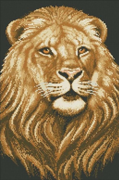 Алмазная вышивка «Царь зверей»Алмазная вышивка<br><br>