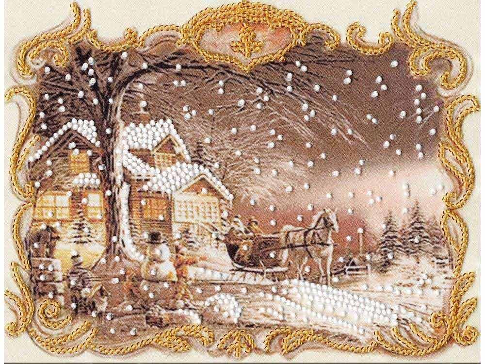 Набор вышивки бисером «Снежный пейзаж»Вышивка бисером Золотое Руно<br><br><br>Артикул: РТ-119<br>Основа: искусственный шелк<br>Размер: 20x15,5 см<br>Техника вышивки: бисер<br>Тип схемы вышивки: Цветная схема<br>Количество цветов: 2<br>Заполнение: Частичное<br>Рисунок на канве: нанесён рисунок и схема<br>Техника: Вышивка бисером