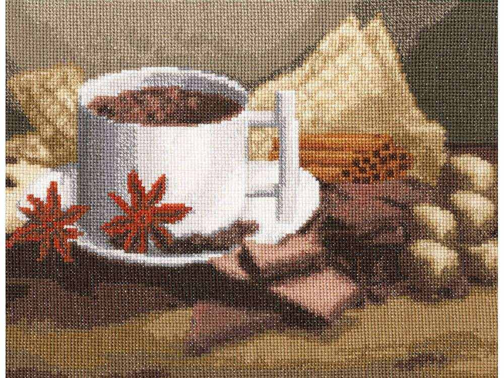 Набор для вышивания «Горячий шоколад»Вышивка крестом Золотое Руно<br><br><br>Артикул: СЖ-041<br>Основа: канва Aida 16<br>Размер: 17,2x22,5 см<br>Техника вышивки: счетный крест<br>Тип схемы вышивки: Черно-белая схема<br>Цвет канвы: Кремовый<br>Количество цветов: 29<br>Заполнение: Полное<br>Рисунок на канве: не нанесён<br>Техника: Вышивка крестом<br>Нитки: мулине Madeira