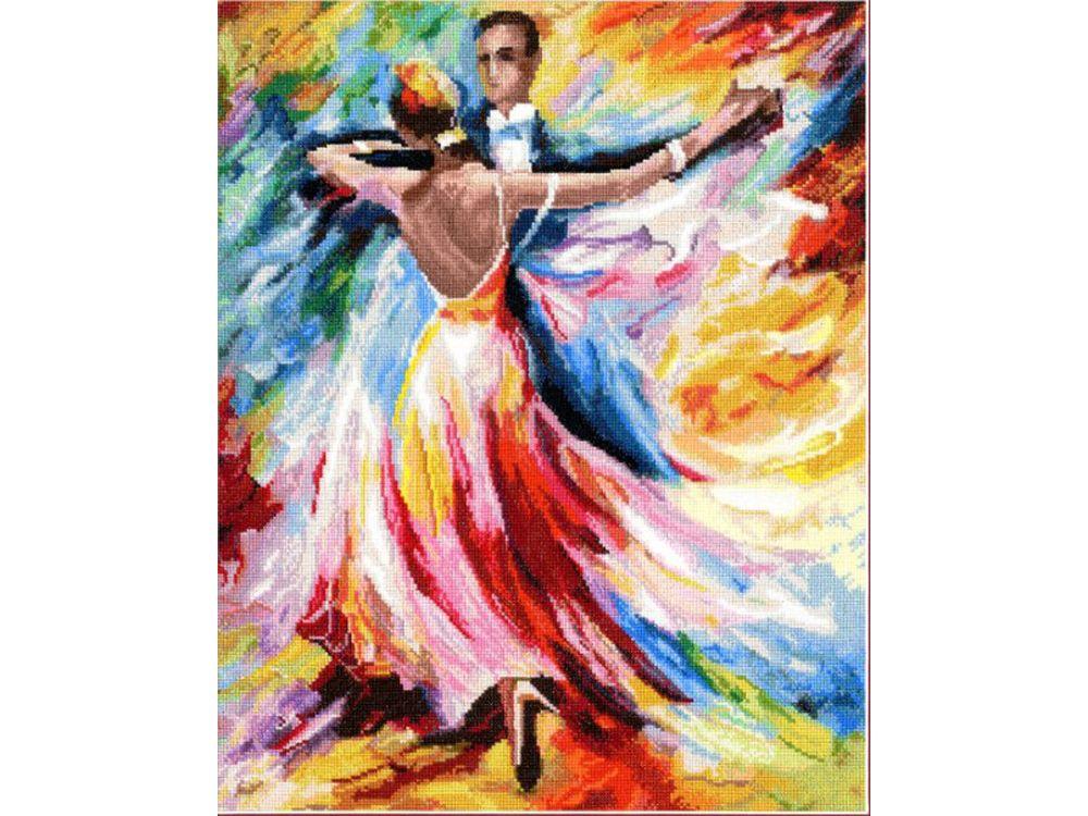 Набор для вышивания «Танец любви»Вышивка крестом Золотое Руно<br><br><br>Артикул: ЧМ-021<br>Основа: канва Aida 16<br>Размер: 38,6x30,9 см<br>Техника вышивки: счетный крест<br>Тип схемы вышивки: Черно-белая схема<br>Цвет канвы: Белый<br>Количество цветов: 66<br>Заполнение: Полное<br>Рисунок на канве: не нанесён<br>Техника: Вышивка крестом<br>Нитки: мулине Madeira