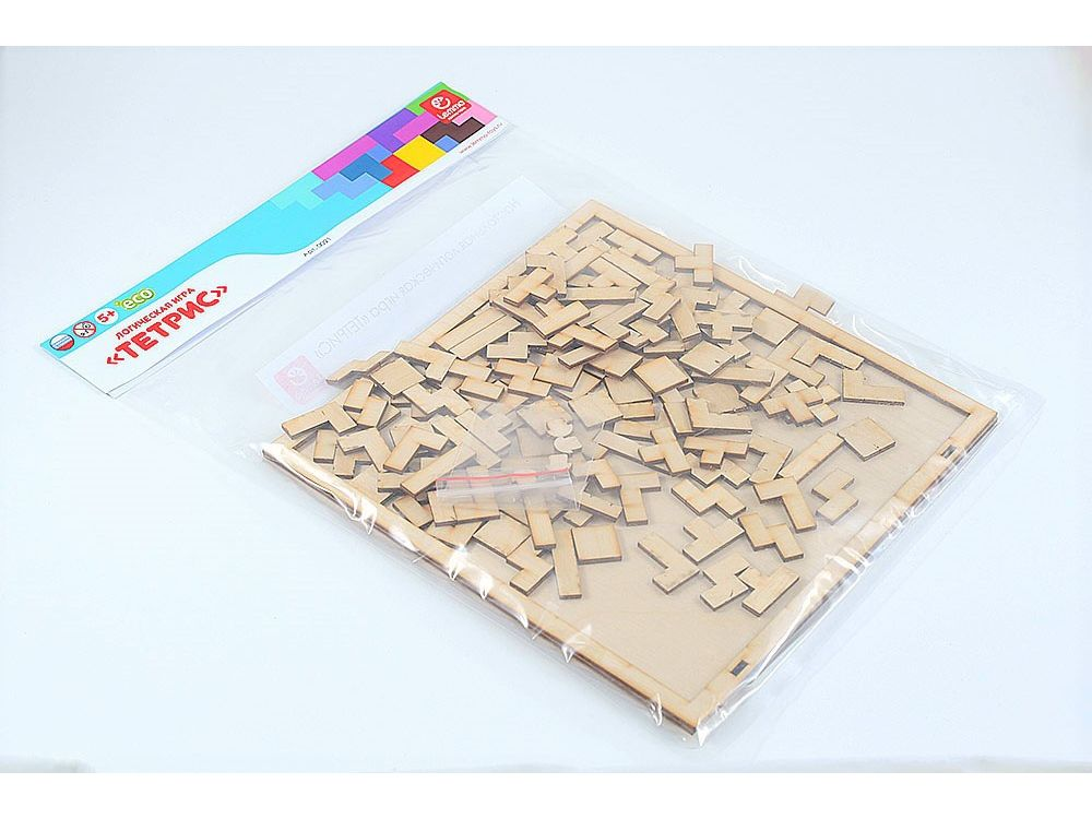 Набор деревянный игра «Тетрис»Настольные развивающие игры<br>Все детали выполнены из качественной древесины и имеют сильный насыщенный запах дерева. Занимательная игра «Тетрис» развивает логику и внимательность.<br> <br> Цель: заполнить квадратную рамку всеми фигурами. Можно играть вдвоем – заполнять поле фигурами с ра...<br><br>Артикул: 00-21<br>Вес упаковки: 330 г<br>Размер упаковки: 25x25 см<br>Возраст: от 5 лет<br>Время игры: 10-20 мин.<br>Количество игроков: 1+<br>Аудитория: Детские