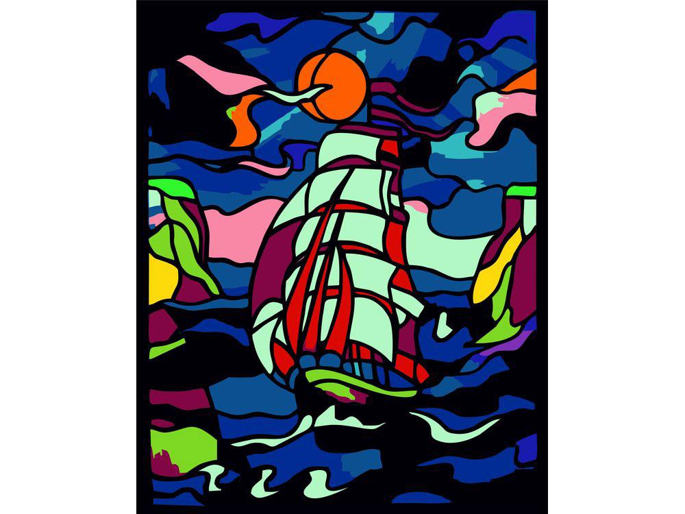 Картина цветным песком «Шторм»Картины из цветного песка<br>Картины песком завоевали популрность среди взрослых и детей благодар интересному творческому процессу и прекрасному результату. Мы разнообразили ассортимент в том виде творчества, и теперь наши покупатели могут создавать полбившиес композиции из сери...<br><br>Артикул: 304001022<br>Размер: 30x40 см<br>Количество цветов: 25<br>Упаковка: Картонна коробка