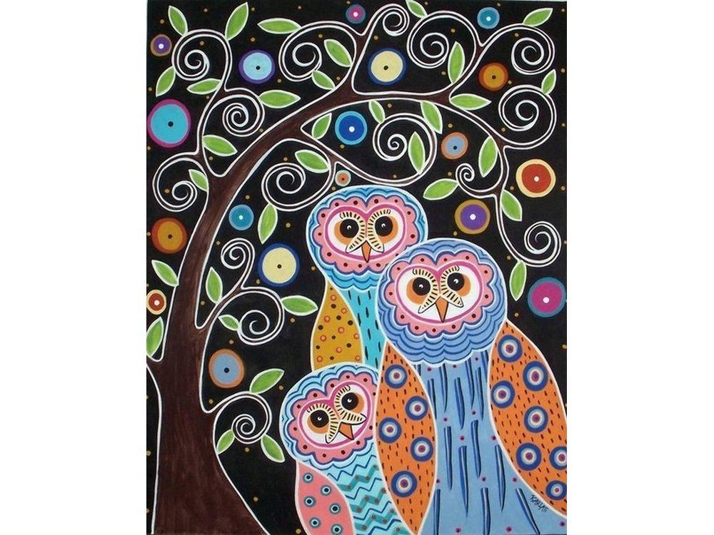 Картина цветным песком «Три совы» Карлы ЖерарКартины из цветного песка<br>Картины песком завоевали популярность среди взрослых и детей благодаря интересному творческому процессу и прекрасному результату. Мы разнообразили ассортимент в этом виде творчества, и теперь наши покупатели могут создавать полюбившиеся композиции из сери...<br><br>Артикул: 304001033<br>Размер: 30x40 см<br>Количество цветов: 25<br>Упаковка: Картонная коробка
