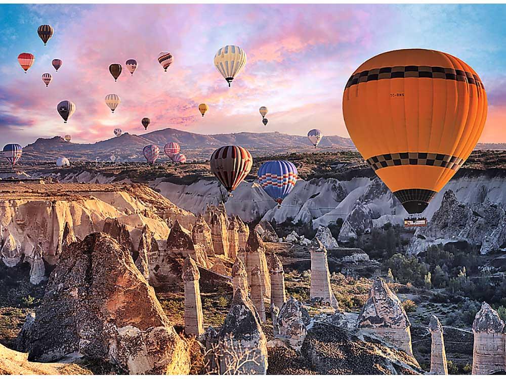 Пазлы «Воздушные шары над Каппадокией»Trefl<br><br><br>Артикул: 33059<br>Размер: 116x85 см<br>Возраст: от 14 лет