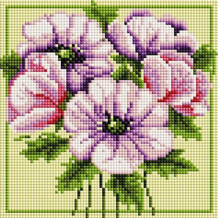 Алмазная вышивка «Чудесные цветы»Алмазная вышивка<br><br>