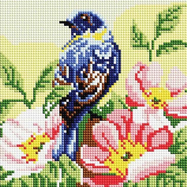 Стразы «Птичка»Алмазная вышивка фирмы Белоснежка<br><br><br>Артикул: 379-ST-S<br>Основа: Холст на подрамнике<br>Размер: 20x20 см<br>Выкладка: Полная<br>Количество цветов: 14<br>Тип страз: Квадратные