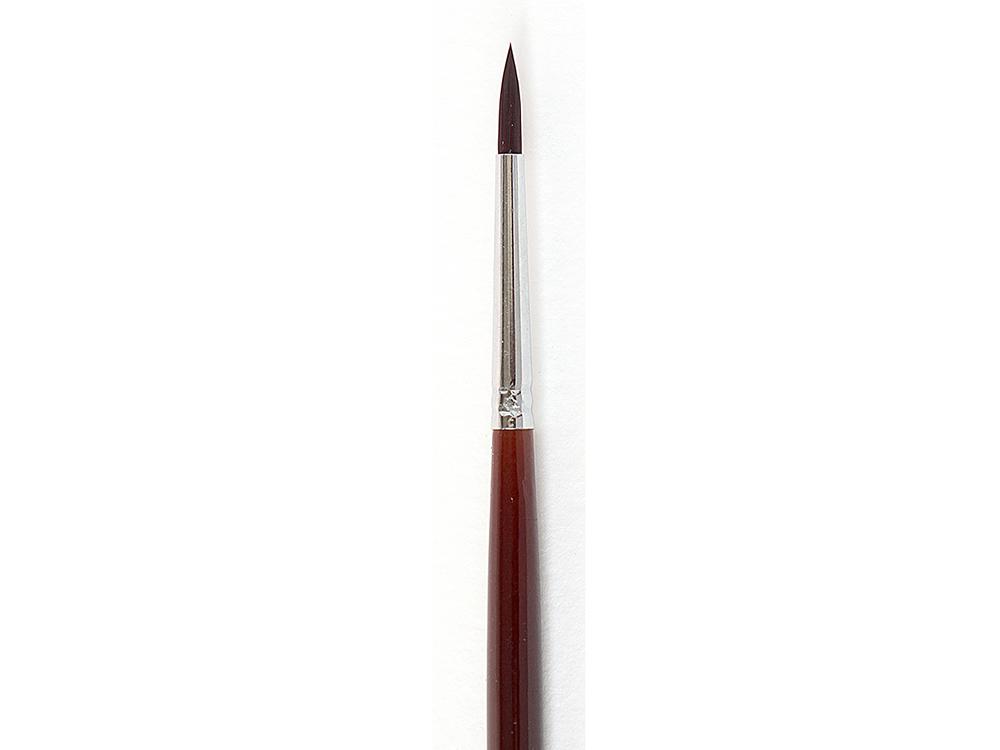 Кисть синтетическая «Осень» круглая №6Аксессуары для рисования картин по номерам<br>Кисть Малевичъ (серия «Осень») - имеет синтетический ворс средней мягкости. Может быть использована для работы над картиной акриловыми или масляными красками.<br> <br> Длина ручки: 18 см, изготовлена из березы и покрыта глянцевым лаком «под красное дерево»<br> ...<br><br>Артикул: 701006