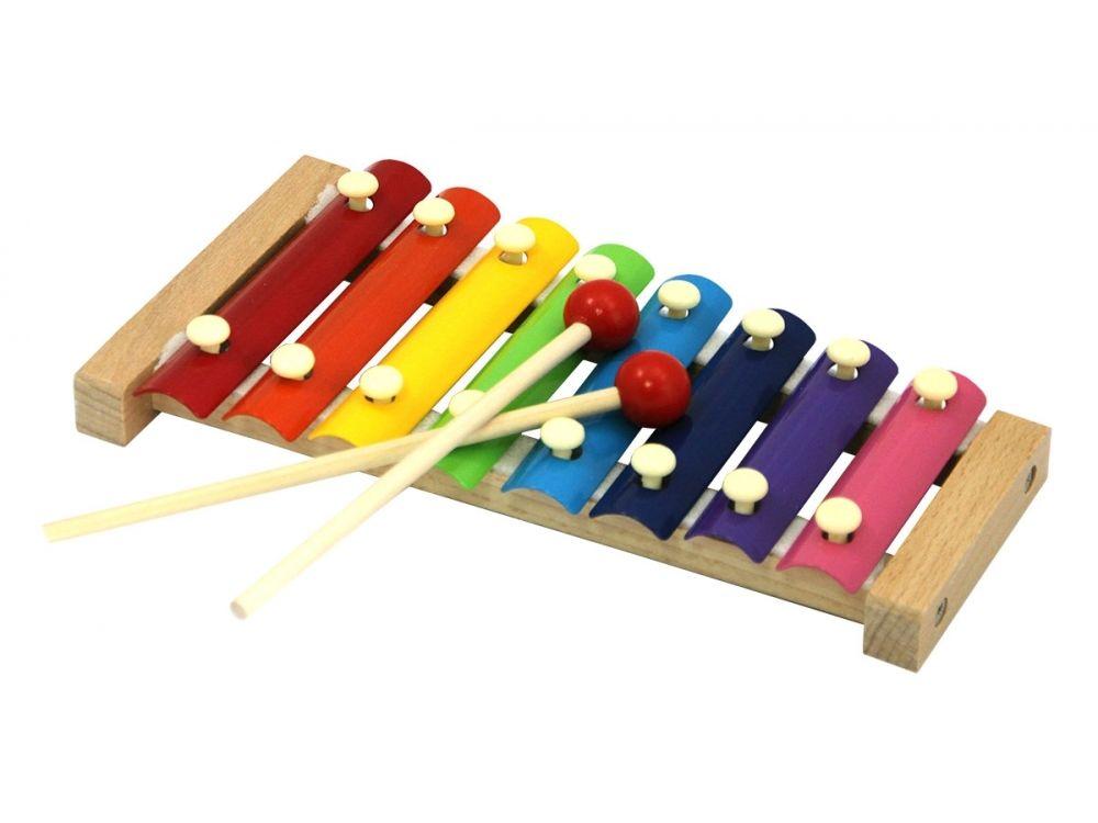 Развивающая игрушка «Деревянный ксилофон»Настольные развивающие игры<br>Ксилофон - ударный музыкальный инструмент, состоящий из набора металлических пластинок на деревянной подставке. Звук из него извлекают, ударяя по пластинкам деревянной палочкой. Играя на ксилофоне, ребенок вслушивается в различные тоны звуков, сочетает их...<br><br>Артикул: 7032<br>Возраст: от 3 лет<br>Время игры: 10-20 мин.<br>Количество игроков: 1<br>Аудитория: Детские