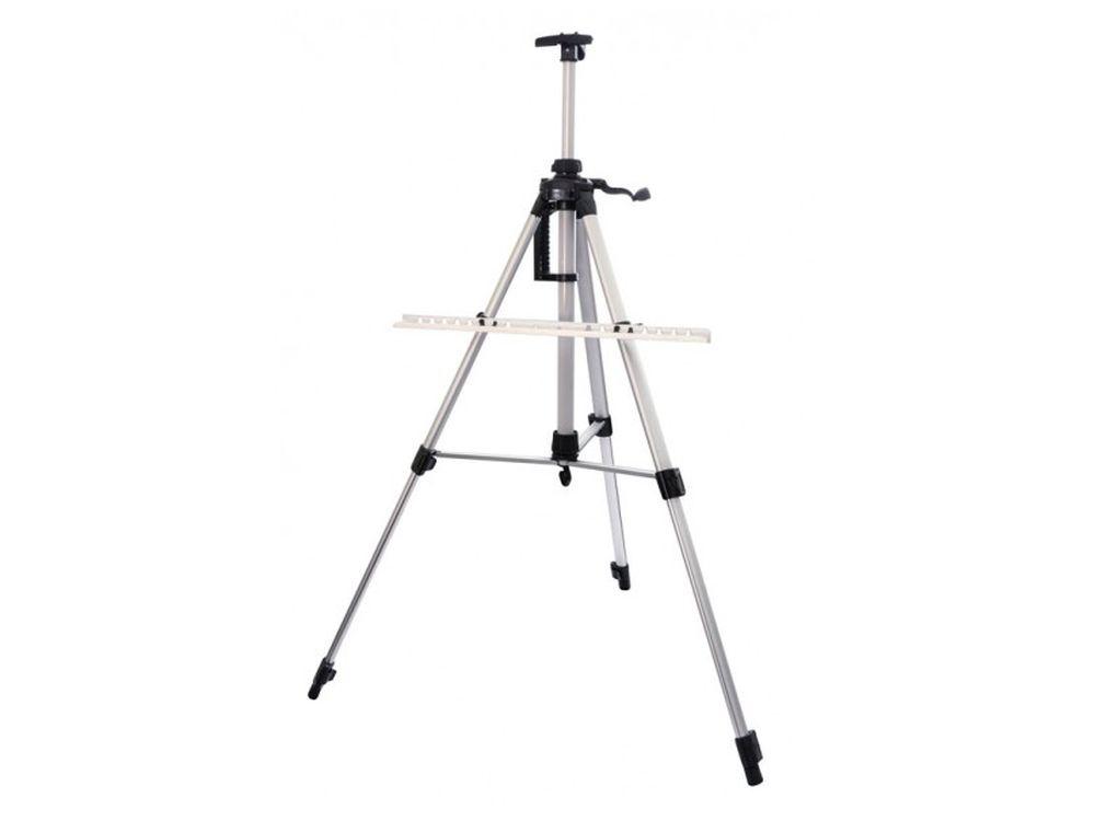 Мольберт-тренога телескопический (серебристый)Мольберты<br>- Мольберт можно устанавливать на столе, на полу или же рисовать на природе. <br> - Легкий и компактный мольберт в форме треноги с ножками и перекладинами из алюминия удобен для рисования картин по номерам. <br> - Телескопические ножки быстро выдвигаются, на ...<br><br>Артикул: 75-BS