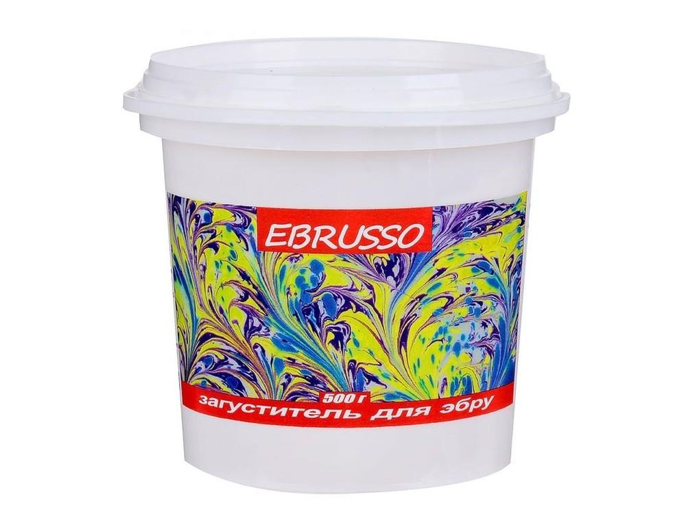 Загуститель для эбру Ebrusso (500 г)Рисование на воде Эбру<br>Наборы от EBRUSSO помогут научиться создавать произведения искусства с помощью воды и красок. Техника Эбру - искусство рисования на воде, сочетает в себе живопись и эстамп (оттиск на любой поверхности), позволяет воплотить свои эмоции и чувства в карт...<br><br>Артикул: EBR18<br>Объем: 500 г
