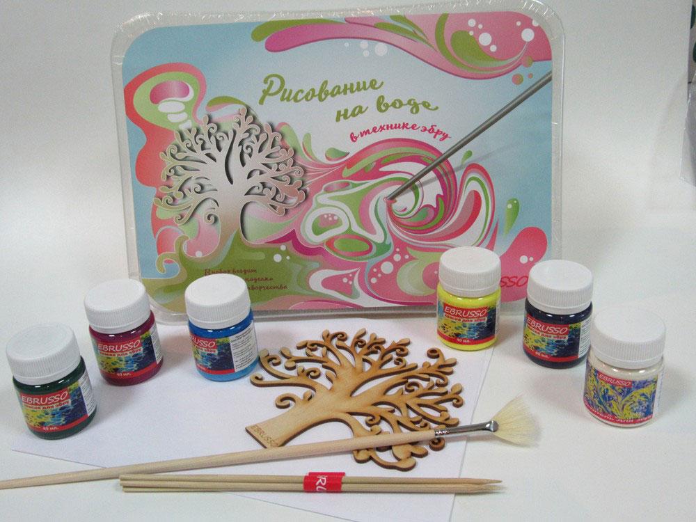 Набор для эбру Ebrusso 5 цветовРисование на воде Эбру<br>Наборы от EBRUSSO помогут научиться создавать произведения искусства с помощью воды и красок. Техника Эбру - искусство рисования на воде, сочетает в себе живопись и эстамп (оттиск на любой поверхности), позволяет воплотить свои эмоции и чувства в карт...<br><br>Артикул: EBR23
