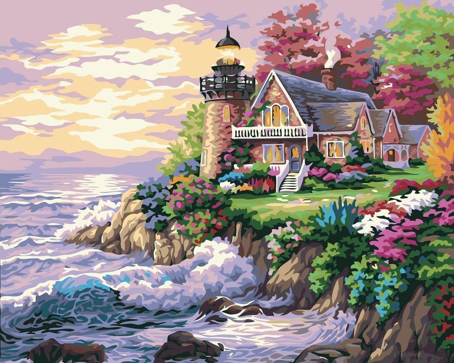 Картина по номерам «Маяк» Ники БоэмPaintboy (Premium)<br><br><br>Артикул: G174<br>Основа: Холст<br>Сложность: средние<br>Размер: 40x50 см<br>Количество цветов: 25<br>Техника рисования: Без смешивания красок