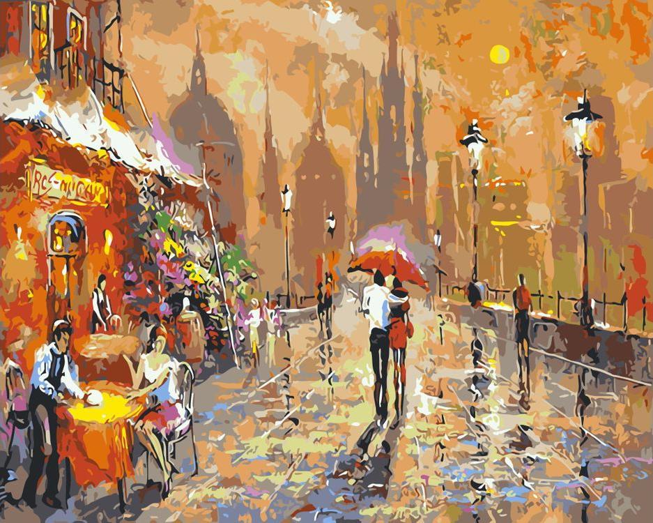 «Летнее кафе»Paintboy (Premium)<br><br><br>Артикул: GX3020<br>Основа: Холст<br>Сложность: средние<br>Размер: 40x50 см<br>Количество цветов: 24<br>Техника рисования: Без смешивания красок