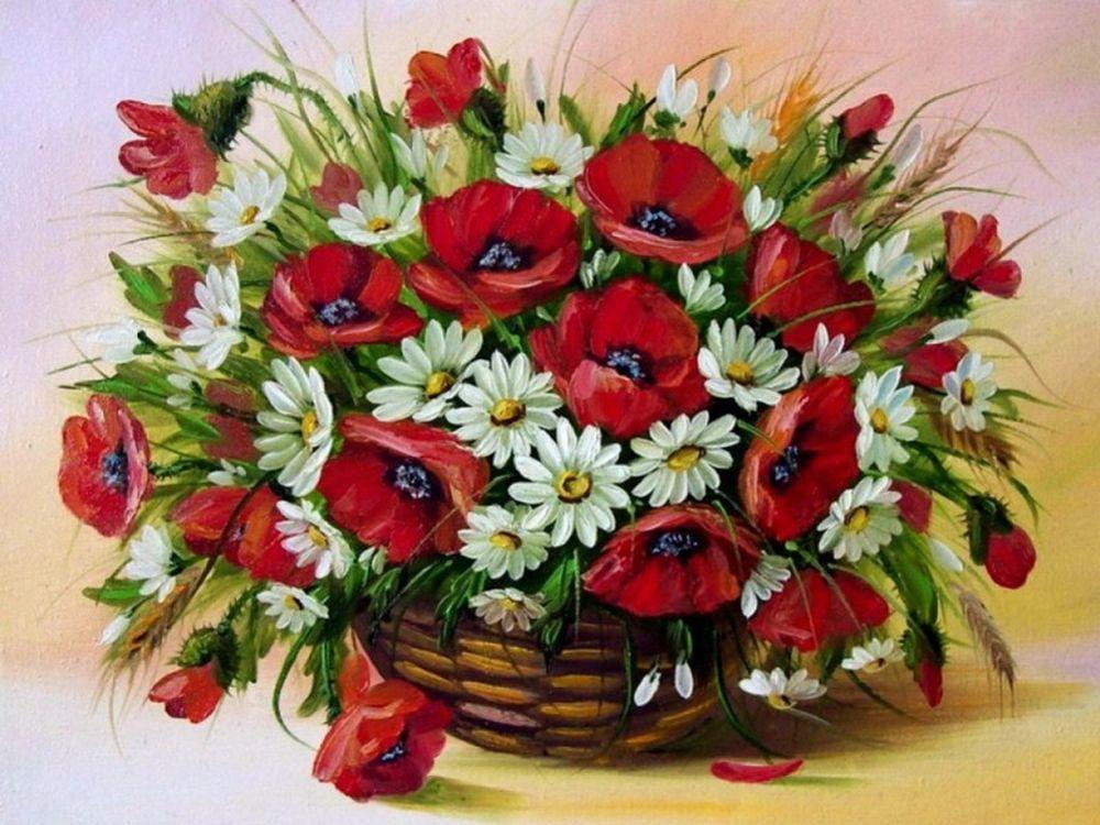 «Полевые цветы»Paintboy (Premium)<br><br><br>Артикул: GX4460<br>Основа: Холст<br>Сложность: сложные<br>Размер: 40x50 см<br>Количество цветов: 25<br>Техника рисования: Без смешивания красок