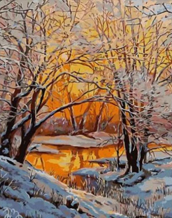 «Зимний вечер»Paintboy (Premium)<br><br><br>Артикул: GX4561<br>Основа: Холст<br>Сложность: сложные<br>Размер: 40x50 см<br>Количество цветов: 25<br>Техника рисования: Без смешивания красок