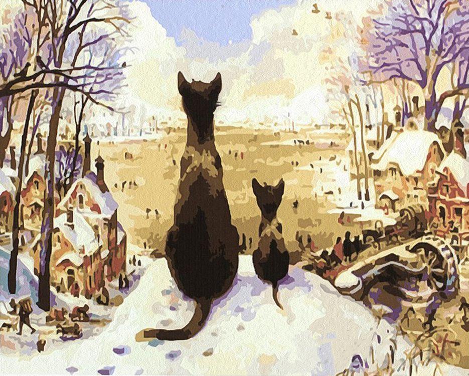 «Первая зима»Paintboy (Premium)<br><br><br>Артикул: GX4564<br>Основа: Холст<br>Сложность: средние<br>Размер: 40x50 см<br>Количество цветов: 23<br>Техника рисования: Без смешивания красок