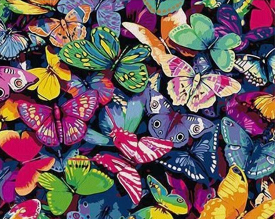 «Бабочки»Paintboy (Premium)<br><br><br>Артикул: GX4585<br>Основа: Холст<br>Сложность: сложные<br>Размер: 40x50 см<br>Количество цветов: 25<br>Техника рисования: Без смешивания красок