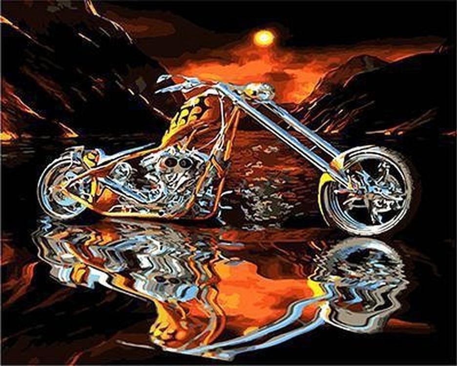 «Чоппер»Paintboy (Premium)<br><br><br>Артикул: GX4699<br>Основа: Холст<br>Сложность: сложные<br>Размер: 40x50 см<br>Количество цветов: 25<br>Техника рисования: Без смешивания красок
