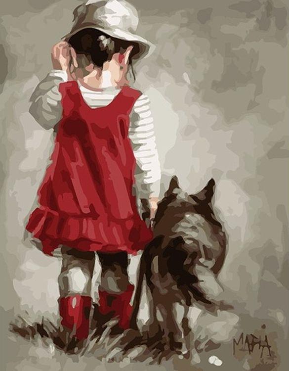 «Прогулка» Марии ВестхайзенPaintboy (Premium)<br><br><br>Артикул: GX8378<br>Основа: Холст<br>Сложность: средние<br>Размер: 40x50 см<br>Количество цветов: 28<br>Техника рисования: Без смешивания красок