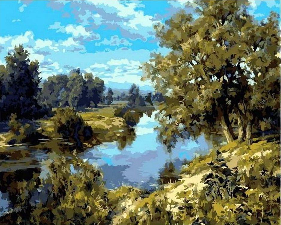 «Озеро»Paintboy (Premium)<br><br><br>Артикул: GX8852<br>Основа: Холст<br>Сложность: средние<br>Размер: 40x50 см<br>Количество цветов: 23<br>Техника рисования: Без смешивания красок