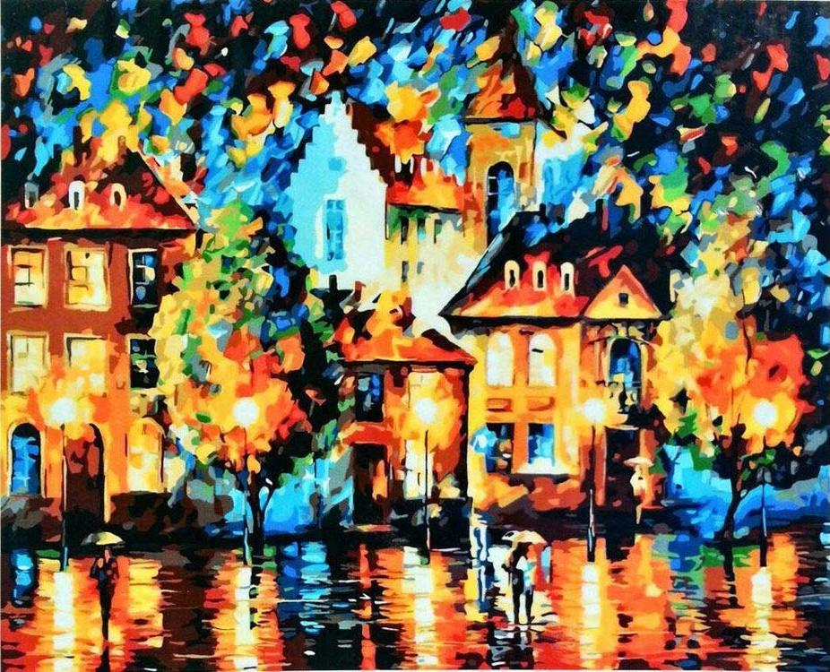 «Городской пейзаж» Леонида АфремоваPaintboy (Premium)<br><br><br>Артикул: GX9027<br>Основа: Холст<br>Сложность: средние<br>Размер: 40x50 см<br>Количество цветов: 24<br>Техника рисования: Без смешивания красок