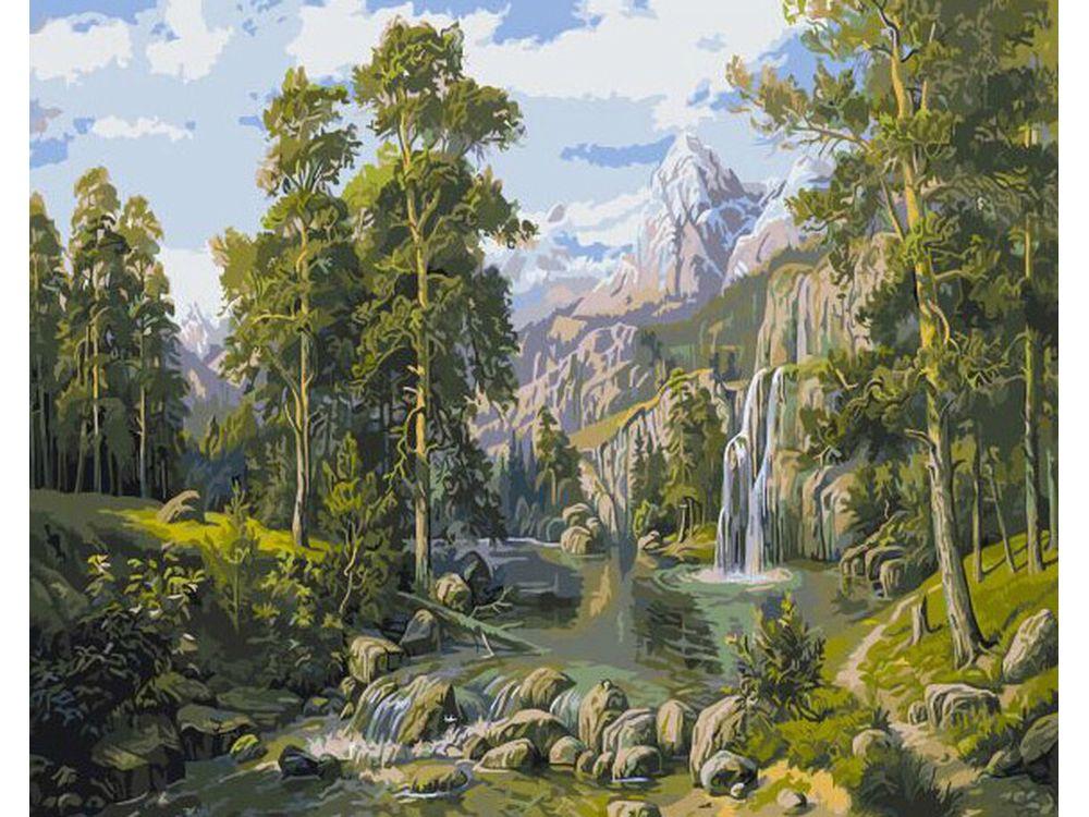 «Лесной пейзаж»Paintboy (Premium)<br><br><br>Артикул: GX9486<br>Основа: Холст<br>Сложность: очень сложные<br>Размер: 40x50 см<br>Количество цветов: 24<br>Техника рисования: Без смешивания красок