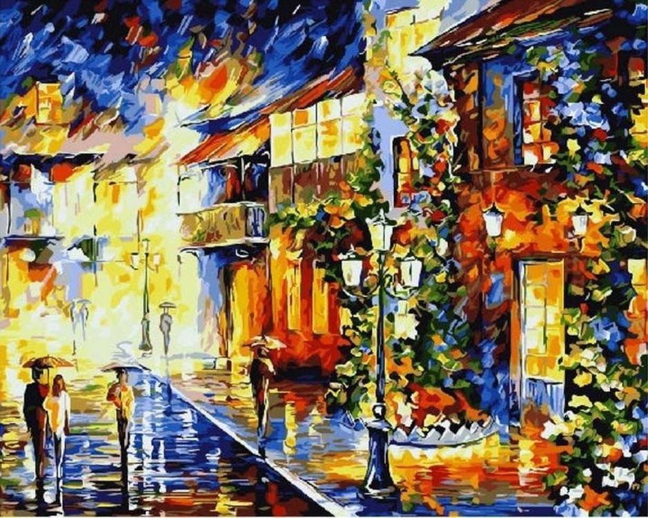 «Вечерняя прогулка» Леонида АфремоваPaintboy (Premium)<br><br><br>Артикул: GX9895<br>Основа: Холст<br>Сложность: средние<br>Размер: 40x50 см<br>Количество цветов: 24<br>Техника рисования: Без смешивания красок