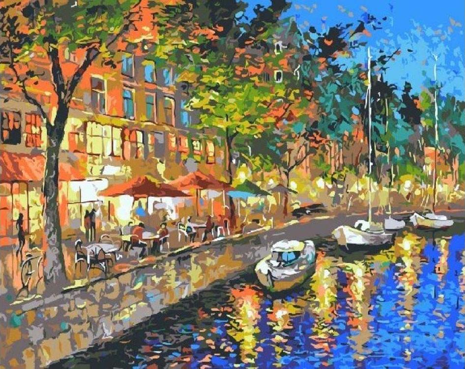 «У ночного ресторана»Paintboy (Premium)<br><br><br>Артикул: GX9961<br>Основа: Холст<br>Сложность: очень сложные<br>Размер: 40x50 см<br>Количество цветов: 24<br>Техника рисования: Без смешивания красок