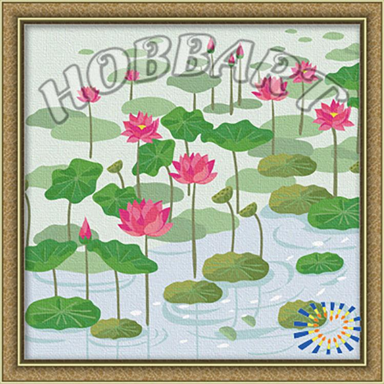 «Кувшинки»Hobbart<br><br><br>Артикул: HB3030011<br>Основа: Холст<br>Сложность: средние<br>Размер: 30x30 см<br>Количество цветов: 19<br>Техника рисования: Без смешивания красок
