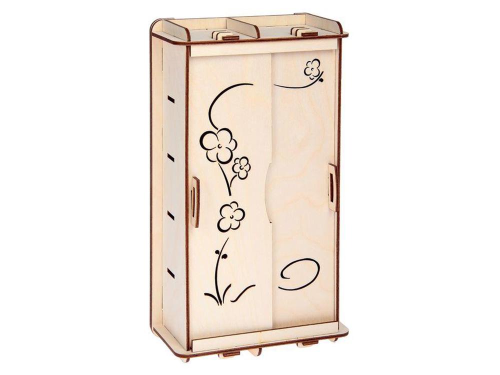 Конструктор «Шкаф для кукол»Конструкторы Happykon<br>Все детали выполнены из качественной древесины и имеют сильный насыщенный запах дерева.<br><br>Артикул: HK-M012<br>Размер: 28x16x7,5 см<br>Материал: дерево (фанера)<br>Возраст: от 5 лет