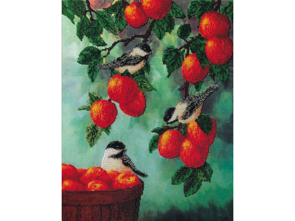 Набор вышивки бисером «Яблочный спас»Вышивка бисером FeDi<br><br><br>Артикул: КВ705<br>Основа: ткань<br>Размер: 38x47 см<br>Техника вышивки: бисер<br>Тип схемы вышивки: Цветная схема<br>Количество цветов: 22<br>Заполнение: Частичное<br>Рисунок на канве: нанесён рисунок и схема<br>Техника: Вышивка бисером