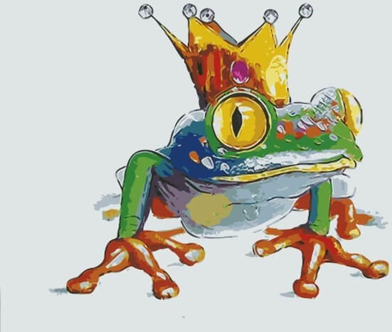 Картина по номерам «Царевна-лягушка»Цветной (Premium)<br><br><br>Артикул: MC1041_Z<br>Основа: Холст<br>Сложность: средние<br>Размер: 20x30 см<br>Количество цветов: 10-15<br>Техника рисования: Без смешивания красок
