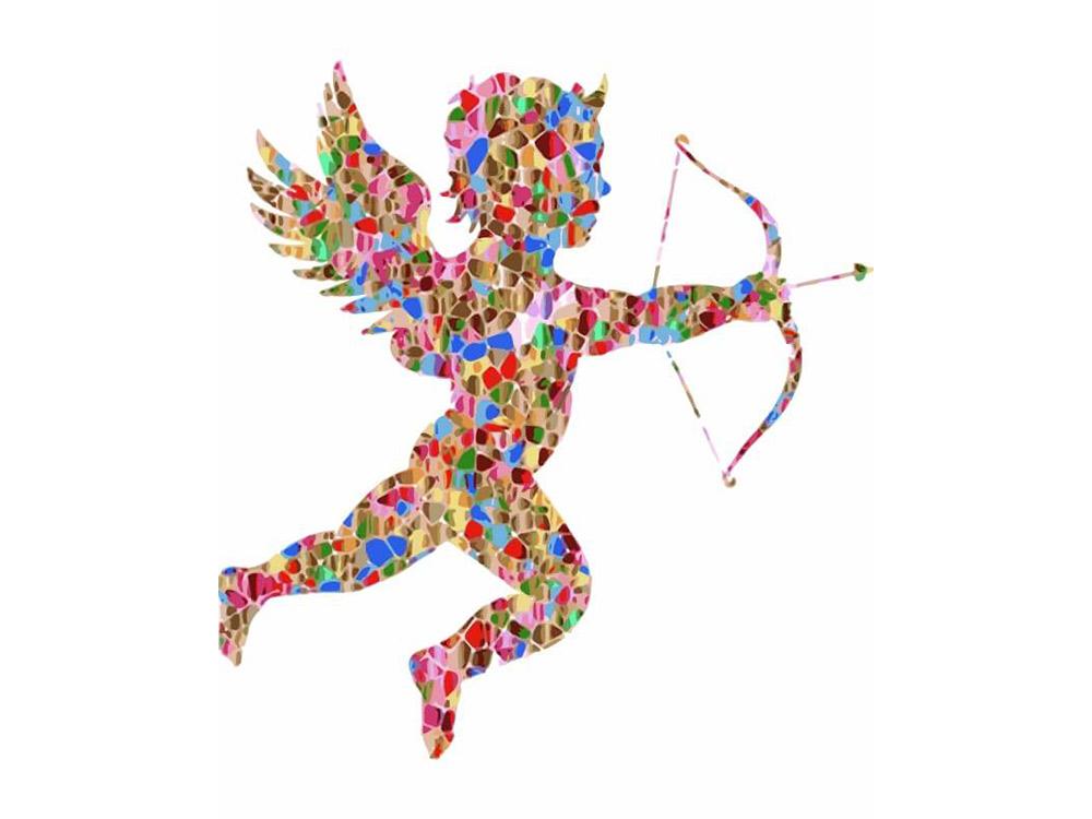 Картина по номерам «Разноцветный Амур»Цветной (Premium)<br><br><br>Артикул: MC1043_Z<br>Основа: Холст<br>Сложность: средние<br>Размер: 20x30 см<br>Количество цветов: 10-15<br>Техника рисования: Без смешивания красок
