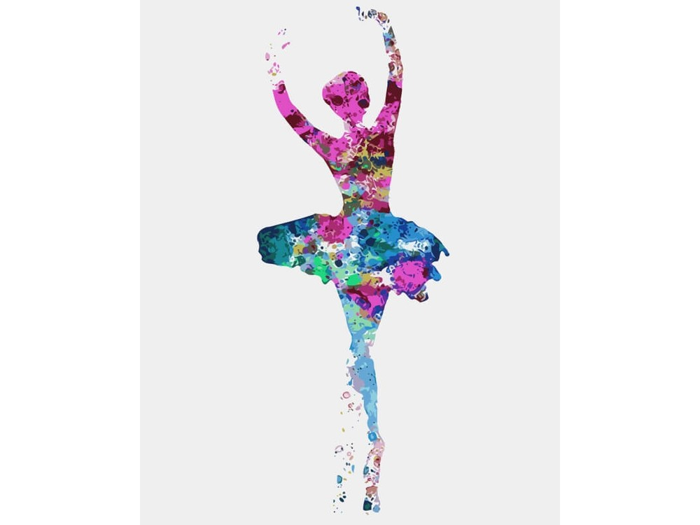«Балерина» Ирины МарчЦветной (Premium)<br><br><br>Артикул: MC1047_Z<br>Основа: Холст<br>Сложность: средние<br>Размер: 20x30 см<br>Количество цветов: 10-15<br>Техника рисования: Без смешивания красок