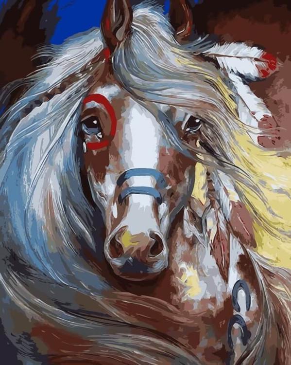 «Индейская красотка» Марсии БолдуинЦветной (Premium)<br><br><br>Артикул: ME1060_Z<br>Основа: Холст<br>Сложность: средние<br>Размер: 30x40 см<br>Количество цветов: 25<br>Техника рисования: Без смешивания красок