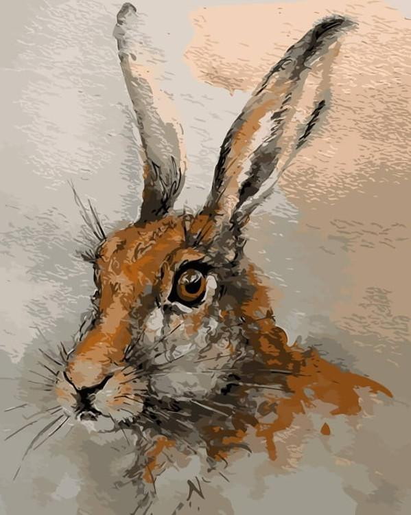 Картина по номерам «Волшебный кролик»Цветной (Premium)<br><br><br>Артикул: ME1062_Z<br>Основа: Холст<br>Сложность: средние<br>Размер: 30x40 см<br>Количество цветов: 25<br>Техника рисования: Без смешивания красок