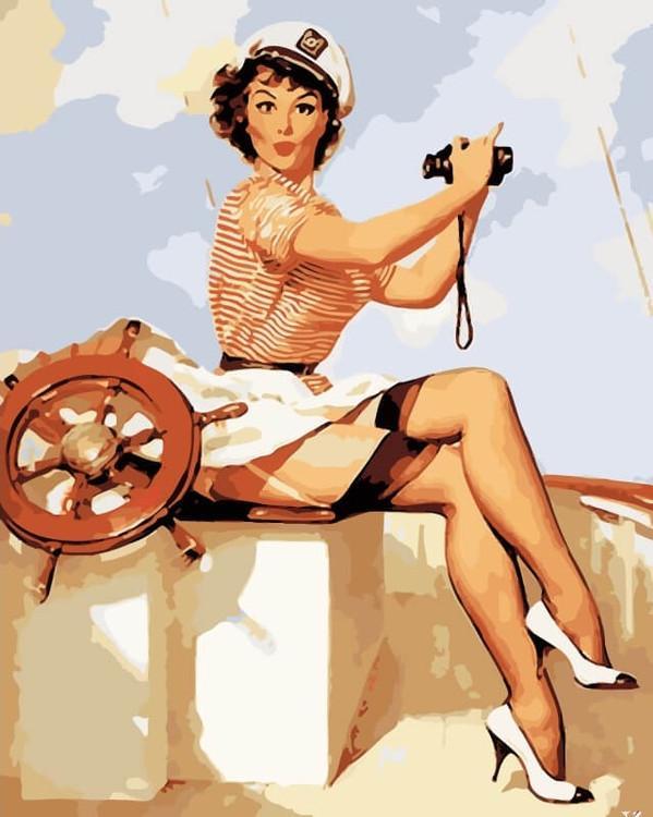 «Капитан, улыбнитесь!» Джила ЭлвгренаЦветной (Premium)<br><br><br>Артикул: ME1079_Z<br>Основа: Холст<br>Сложность: средние<br>Размер: 30x40 см<br>Количество цветов: 25<br>Техника рисования: Без смешивания красок
