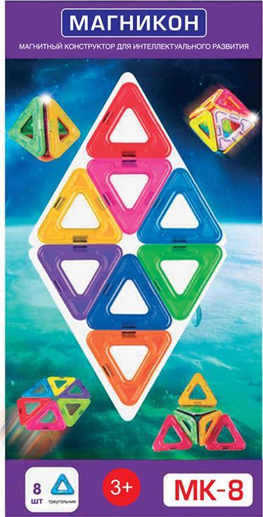 Магнитный конструктор MK-8Магнитные конструкторы<br>Треугольник – созданная самой природой фигура жесткости. Треугольные компоненты входят в состав всех строительных конструкций, машин и механизмов. Незаменимым для развития пространственного мышления и технических способностей ребенка станет набор Магникон...<br><br>Артикул: MK-8<br>Вес: 180 г<br>Материал: пластик с магнитными вставками<br>Упаковка: блистер<br>Размер упаковки: 137x278x6 см<br>Возраст: от 3 лет