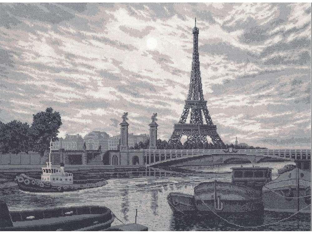 Набор для вышивания «Париж»Вышивка крестом Золотое Руно<br><br><br>Артикул: ВС-010<br>Основа: канва Aida 18<br>Размер: 42,8x56,7 см<br>Техника вышивки: счетный крест<br>Тип схемы вышивки: Черно-белая схема<br>Цвет канвы: Кремовый<br>Количество цветов: 7<br>Заполнение: Полное<br>Рисунок на канве: не нанесён<br>Техника: Вышивка крестом