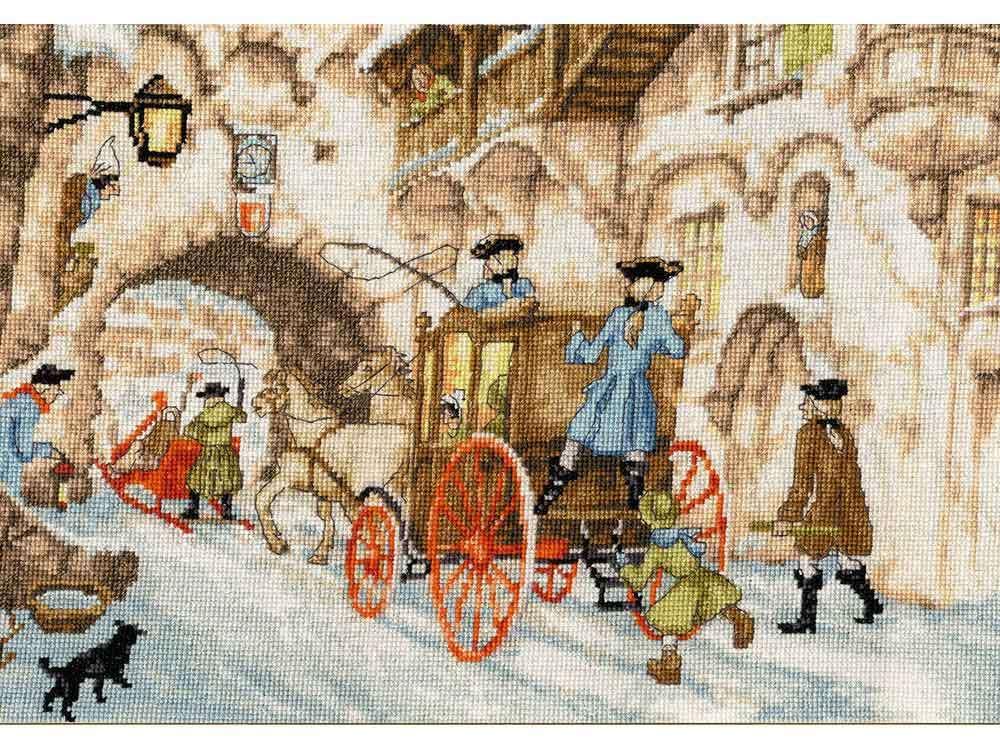 Набор для вышивания «Сказки старого города»Вышивка крестом Золотое Руно<br><br><br>Артикул: ГМ-029<br>Основа: канва Aida 18<br>Размер: 20,4x30,4 см<br>Техника вышивки: счетный крест<br>Тип схемы вышивки: Черно-белая схема<br>Цвет канвы: Кремовый<br>Количество цветов: 32<br>Заполнение: Полное<br>Рисунок на канве: не нанесён<br>Техника: Вышивка крестом
