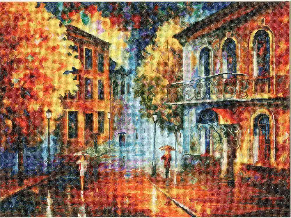 Набор для вышивания «Осенний вечер» Леонида АфремоваВышивка крестом Золотое Руно<br><br>