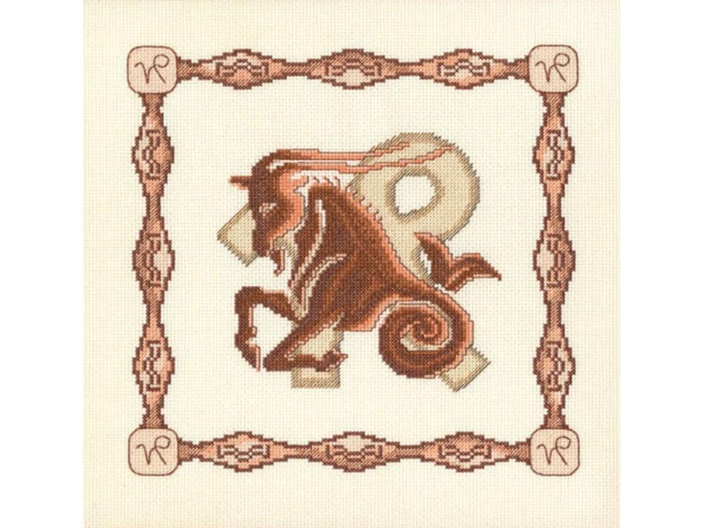Набор для вышивания «Козерог»Вышивка крестом Золотое Руно<br><br><br>Артикул: Г-001<br>Основа: канва Aida 14<br>Размер: 23x23 см<br>Техника вышивки: счетный крест<br>Тип схемы вышивки: Черно-белая схема<br>Цвет канвы: Кремовый<br>Количество цветов: 10<br>Заполнение: Частичное<br>Рисунок на канве: не нанесён<br>Техника: Вышивка крестом