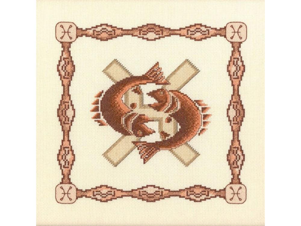Набор для вышивания «Рыбы»Вышивка крестом Золотое Руно<br><br><br>Артикул: Г-003<br>Основа: канва Aida 14<br>Размер: 23x23 см<br>Техника вышивки: счетный крест<br>Тип схемы вышивки: Черно-белая схема<br>Цвет канвы: Кремовый<br>Количество цветов: 10<br>Заполнение: Частичное<br>Рисунок на канве: не нанесён<br>Техника: Вышивка крестом
