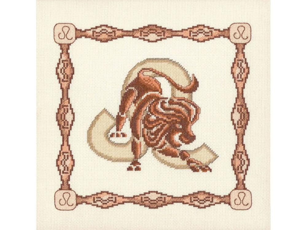 Набор для вышивания «Лев»Вышивка крестом Золотое Руно<br><br><br>Артикул: Г-008<br>Основа: канва Aida 14<br>Размер: 23x23 см<br>Техника вышивки: счетный крест<br>Тип схемы вышивки: Черно-белая схема<br>Цвет канвы: Кремовый<br>Количество цветов: 10<br>Заполнение: Частичное<br>Рисунок на канве: не нанесён<br>Техника: Вышивка крестом